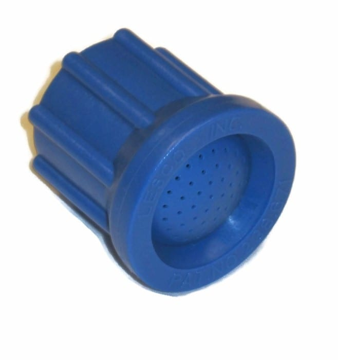 close up blue nozzle