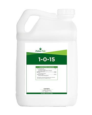 bottle of Foliar-Pak 1-0-15