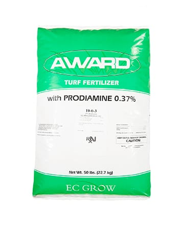 bag of award turf fertilizer