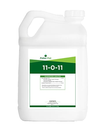 bottle of Foliar-Pak 11-0-11