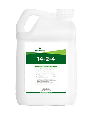 bottle of Foliar-Pak 14-2-4
