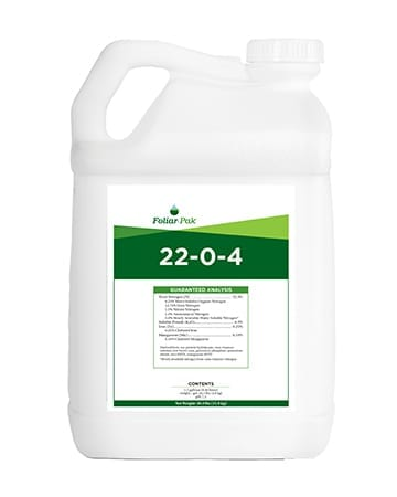bottle of Foliar-Pak 22-0-4