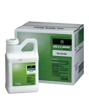 bottle and box of Acclaim Herbicide
