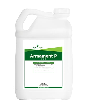 bottle of Foliar-Pak Armament P