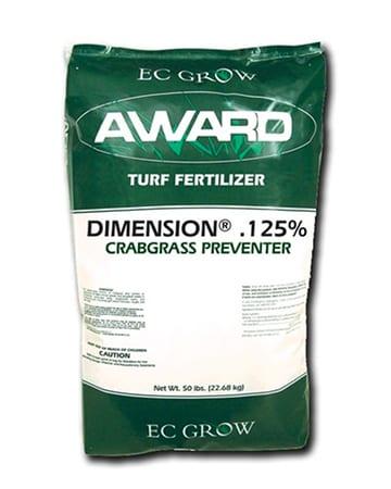 bag of turf fertilizer