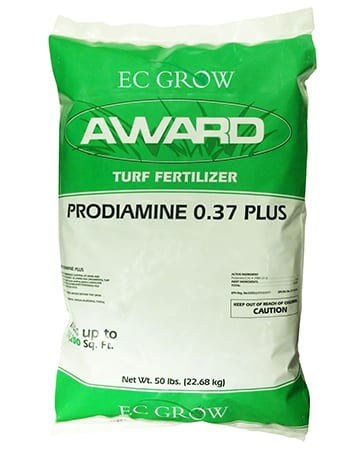 bag of EC Grow Award Turf Fertilizer