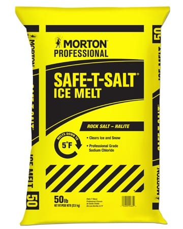 yellow bag Safe-T-Salt Ice Melt