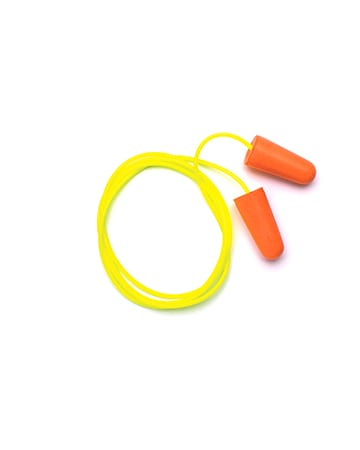 yellow and orange ear plugs