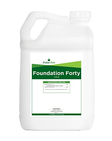 bottle of Foliar-Pak Foundation Forty