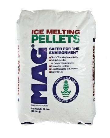 bag of ice melting pellets