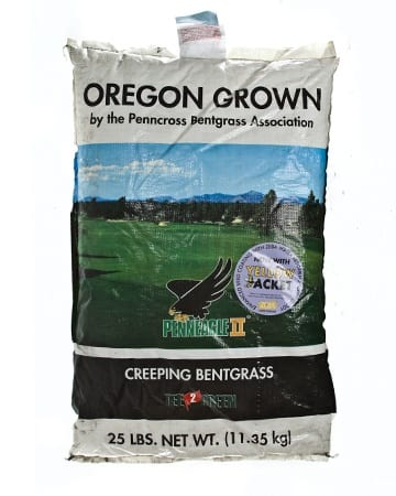 bag of Penneagle II Creeping Bentgrass
