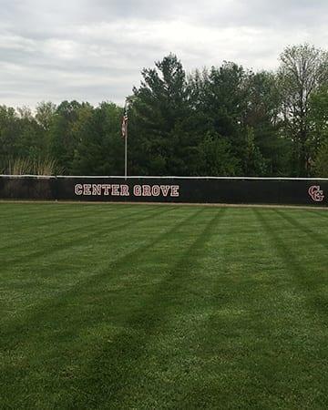 close up of baseball field grass