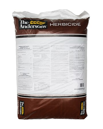 bag of The Andersons Golf Products Turf Fertilizer 10-3-10 with Dithioyr Turf Herbicide