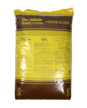 bag of The Andersons Turf Products Fertilizer 14-0-4 with 0.38% Prodiamine Herbicide, 20% Fortify-N