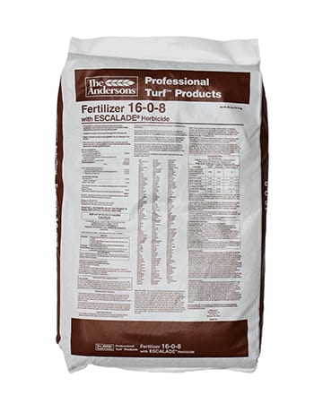 bag of the Andersons 16-0-8 Fertilizer with Escalade Herbicide