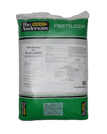 bag of the Andersons 16-0-8 Fertilizer with Humic DG