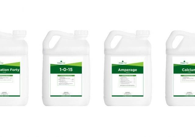 four different foliar-pak products