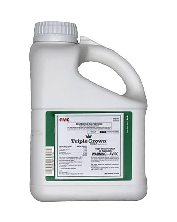 bottle of triple crown golf insecticide