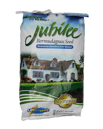 bag of Jubilee Bermudagrass Seed