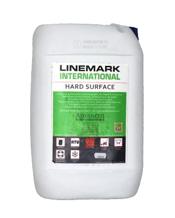 container of Linemark Blue Hard Surface Paint