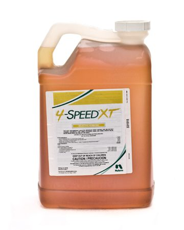 bottle of Nufarm 4 Speed XT