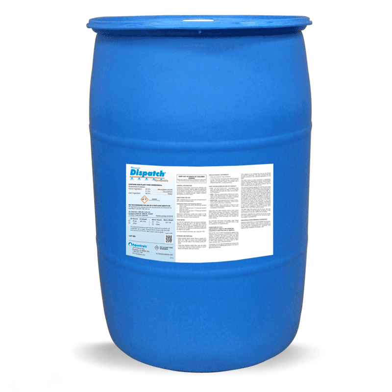 blue bucket of Aquatrols Dispatch Drum