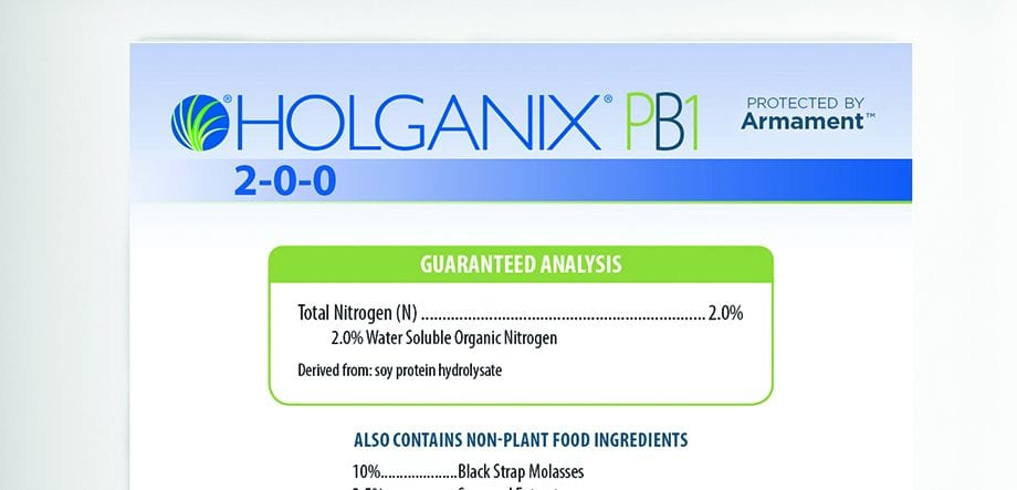 Holganix PB1 2-0-0 the guaranteed analysis