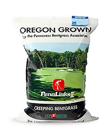 bag of Pennlinks II Creeping Bentgrass