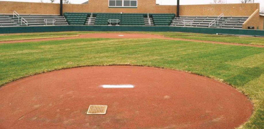 close-up of new mound at baseball field