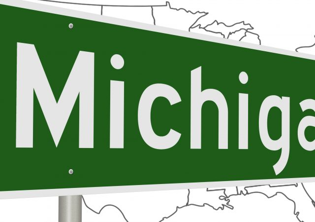 green michigan state sign