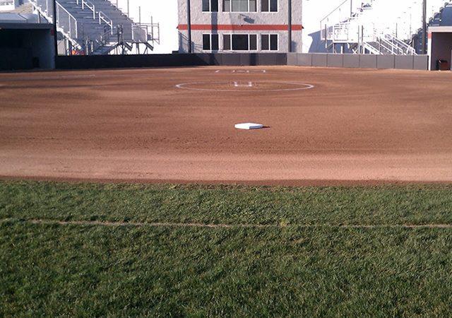 landscape view of baseball field
