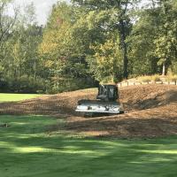 machine shaping new bunker