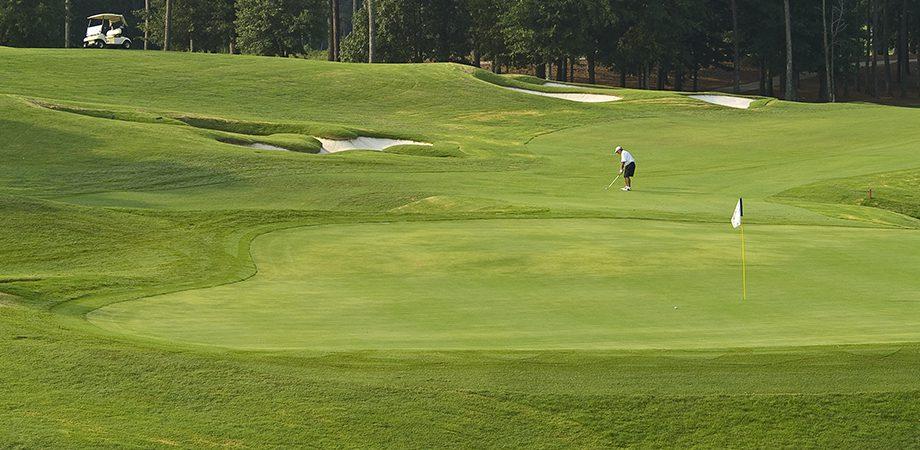 gentleman golfing on the golf course