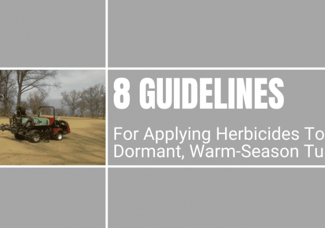 8 guidelines for applying herbicides to dormant, warm-season turf