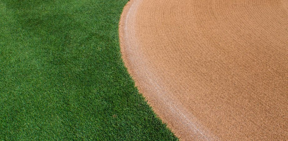 close up of outfield and infield