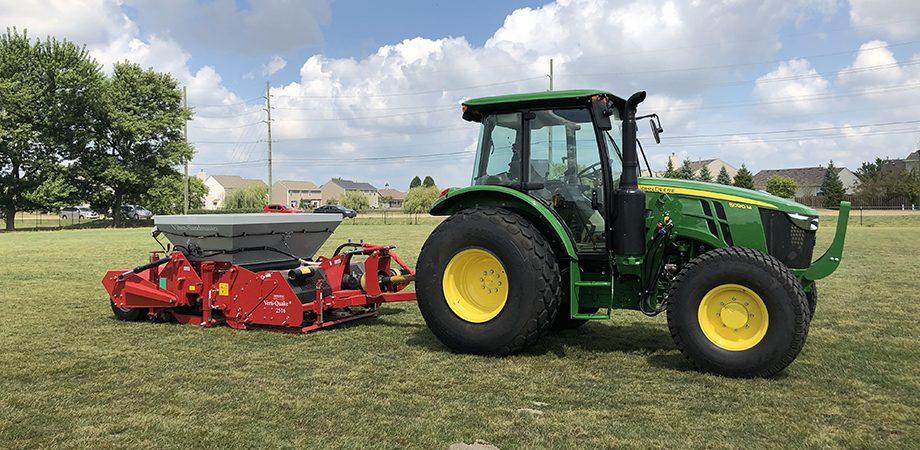 tractor pulling the sandmaster