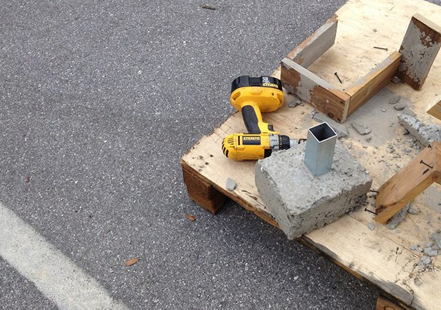 base anchors being built